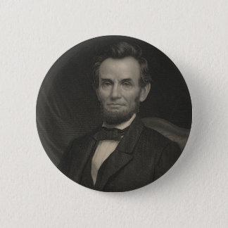 Het Portret van de ets van Abraham Lincoln Ronde Button 5,7 Cm