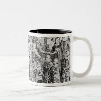 Het Portret van de familie van James I van Tweekleurige Koffiemok