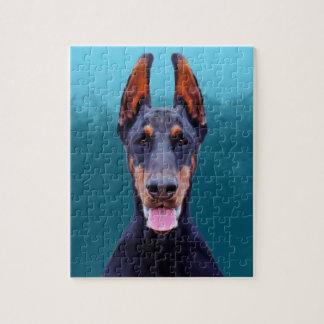 Het Portret van de Hond van Doberman Legpuzzel