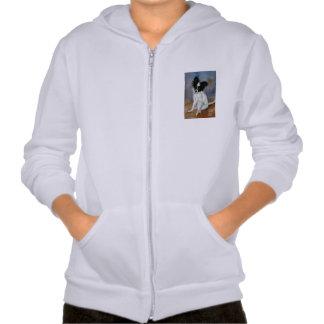 Het Portret van de Hond van Papillon Sweatshirt Met Capuchon