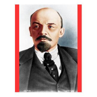 Het portret van de kleur van Lenin Briefkaart