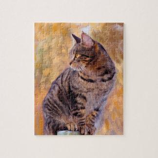 Het Portret van de Kunst van de kat Puzzel