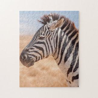 Het Portret van de puzzel van een Zebra Foto Puzzels
