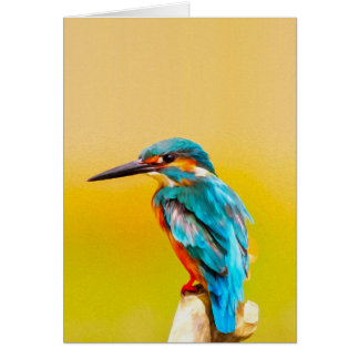Het Portret van de Waterverf van de Vogel van de Briefkaarten 0