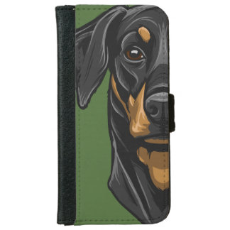 Het Portret van Dobermann iPhone 6 Portemonneehoesje