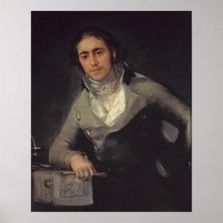 Het portret van een man wordt verondersteld om te  poster