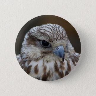 Het Portret van Falco cherrug Ronde Button 5,7 Cm