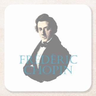 Het portret van Frédéric Chopin Vierkante Onderzetter