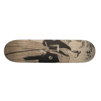 Het Portret van gemiddelde lengte van een Strijder Skateboard