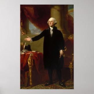 Het Portret van George Washington Lansdowne Poster