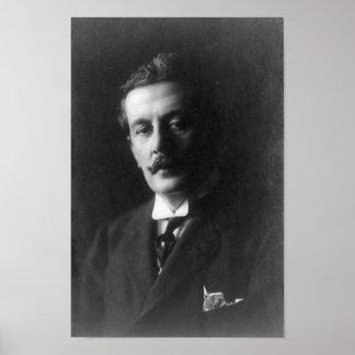 Het Portret van Giacomo Puccini Poster