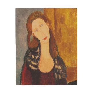 Het portret van Hebuterne van Jeanne door Amedeo Hout Afdruk