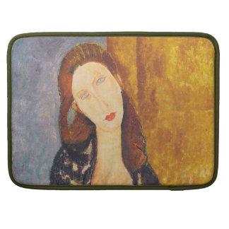 Het portret van Hebuterne van Jeanne door Amedeo MacBook Pro Sleeve