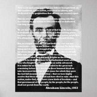 Het Portret van het Adres van Abraham Lincoln Poster