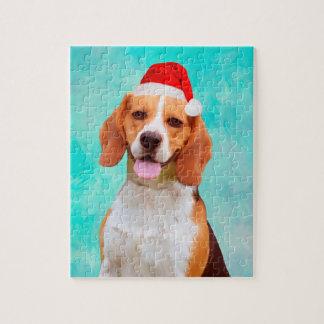 Het Portret van het Pet van de Kerstman van Legpuzzel