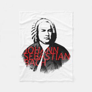 Het portret van Johann Sebastian Bach en rode Fleece Deken