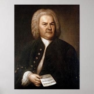 Het Portret van Johann Sebastian Bach Poster