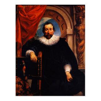 Het Portret van Jordaens- van Jacob van Rogier Briefkaart