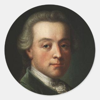 Het Portret van Mozart Ronde Sticker
