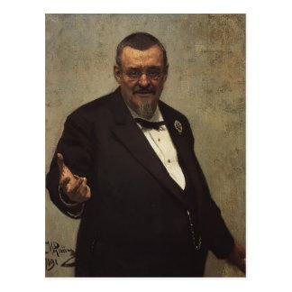 Het Portret van Repin- van Ilya van Advocaat Briefkaart