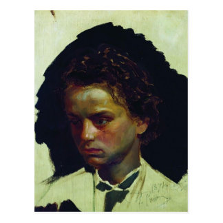 Het Portret van Repin- van Ilya van beeldhouwer Briefkaart
