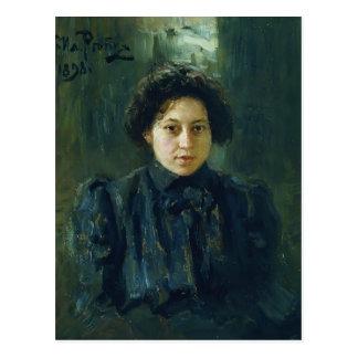Het Portret van Repin- van Ilya van Briefkaart