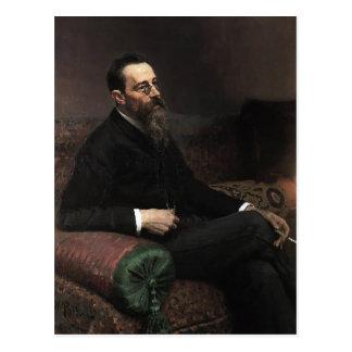Het Portret van Repin- van Ilya van Componist Briefkaart