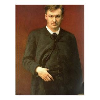 Het Portret van Repin- van Ilya van de Componist Briefkaart