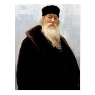 Het Portret van Repin- van Ilya van de Criticus Briefkaart