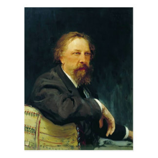 Het Portret van Repin- van Ilya van de schrijver Briefkaart