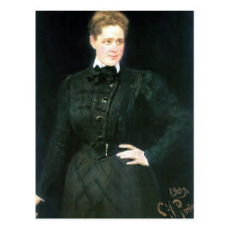 Het Portret van Repin- van Ilya van gravin Sophia Briefkaart