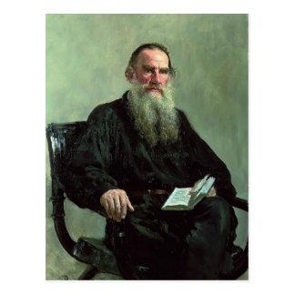 Het Portret van Repin- van Ilya van Leeuw Tolstoy Briefkaart