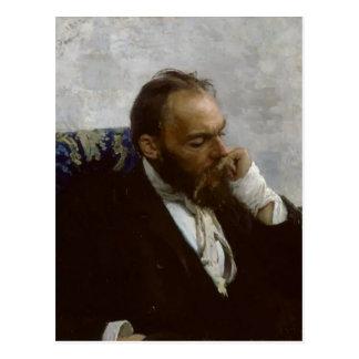 Het Portret van Repin- van Ilya van Professor Briefkaart