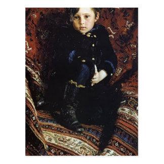 Het Portret van Repin- van Ilya van Yuriy Repin, Briefkaart