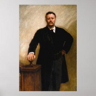 Het Portret van THEODORE ROOSEVELT door John Poster