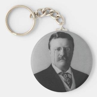 Het Portret van Theodore Roosevelt Sleutelhanger