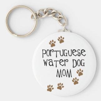 Het Portugese Mamma van de Hond van het Water Basic Ronde Button Sleutelhanger
