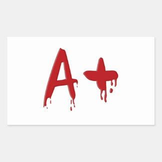 Het positief van de bloedgroep A Rechthoekige Sticker