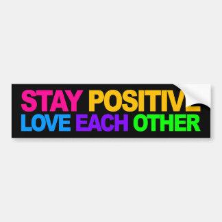Het Positief van het verblijf, Liefde elkaar Bumpersticker