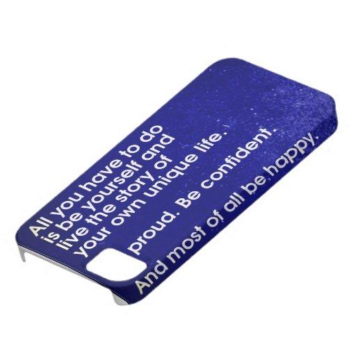 Het positieve bericht van het leven voor iphone 5 iphone 5 hoesjes zazzle - Decoratief kader voor het leven ...