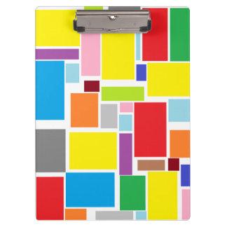 Het positieve Kleurrijke Klembord van Blokken