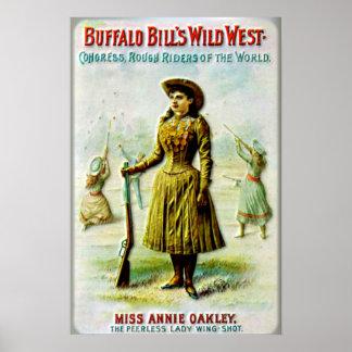Het Poster Annie Oakley van de Wilde Westennen van