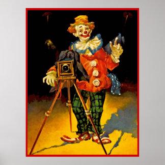 Het poster die van de clown 16 schilderen
