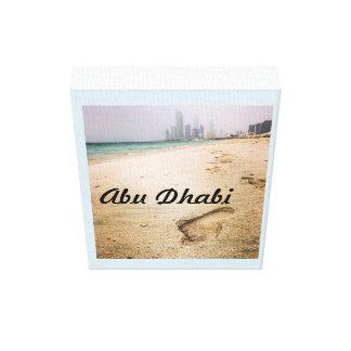 Het Poster van Abu Dhabi Corniche Canvas Print