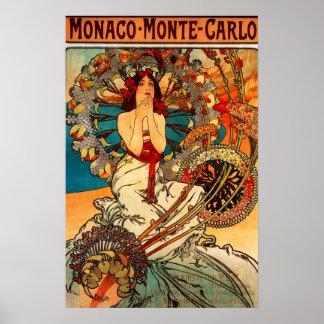 Het Poster van Alphonse Mucha Monte Carlo