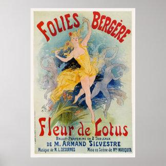 Het Poster van Bergere van Folies door Jules Chere
