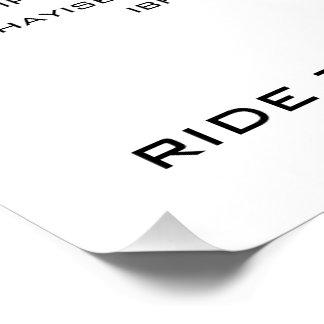 Het Poster van Bicycling