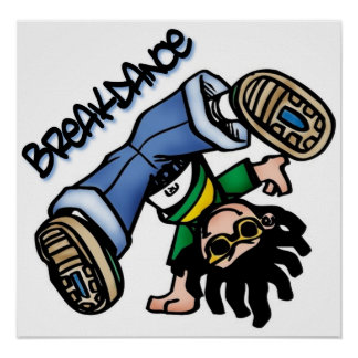 Het poster van Breakdance