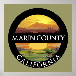 Het Poster van Californië van de Provincie van Mar