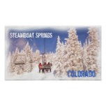 Het poster van Colorado van de Lentes van de stoom